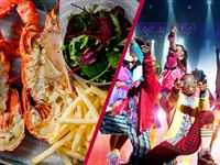 Stalls or Dress Circle Theatre Show and Dining for Two at Steak and Lobster Experience Day